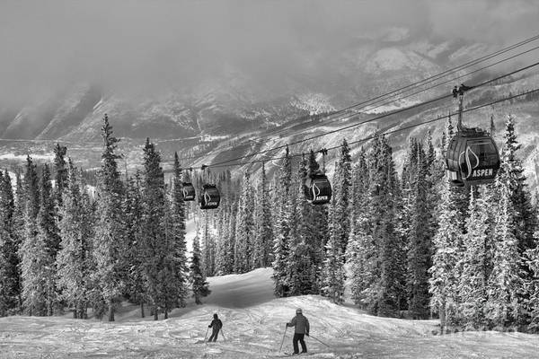 Photograph - Skiers Under The Aspen Gondola by Adam Jewell