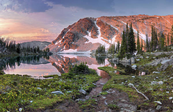 Altitude Photograph - Skytop Lake Sunrise by Leland D Howard