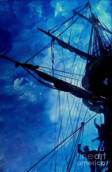 Wall Art - Painting - Skyward Of The Fore Mast by Richard John Holden RA
