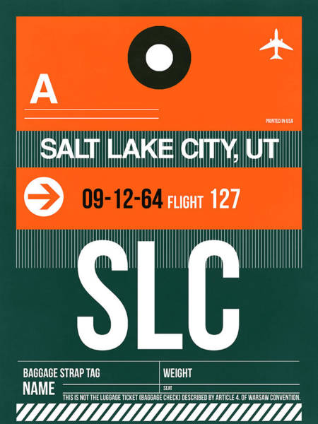 Wall Art - Digital Art - Slc Salt Lake City Luggage Tag II by Naxart Studio