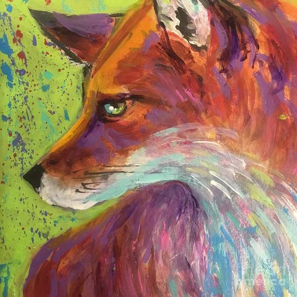Wall Art - Painting - Sly Fox by Lorraine Danzo