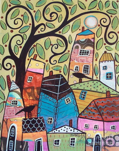 Wall Art - Painting - Small Village by Karla Gerard
