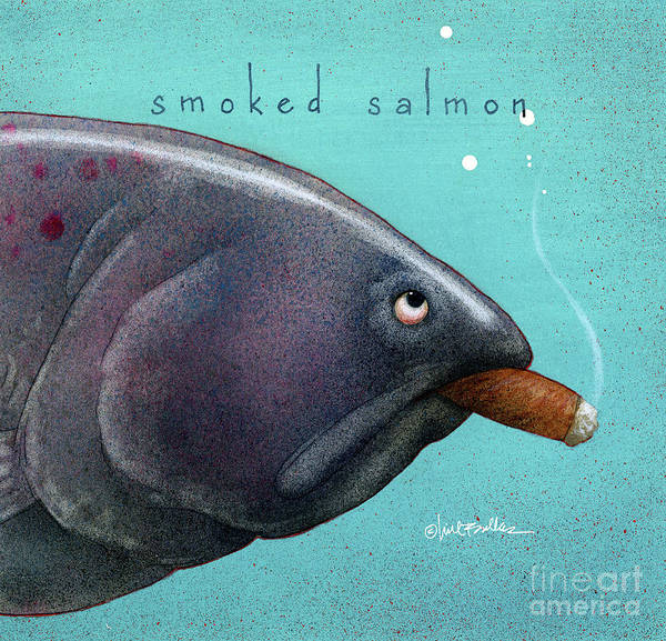 Painting - Smoked Salmon by Will Bullas
