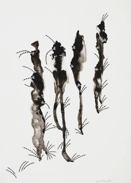 Marching Painting - Snoopers Series, 2006 Ink On Paper by Dario Ramirez