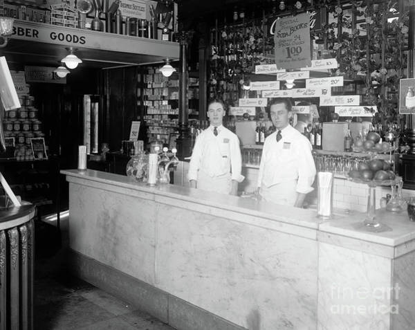 Photograph - Soda Fountain, C1921 by Granger