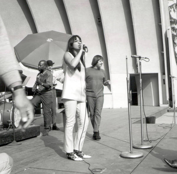 Sonny Bono Wall Art - Photograph - Sonny & Cher At Hollywood Bowl by Michael Ochs Archives