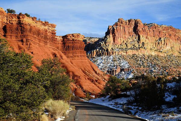 Photograph - South Scenic Drive In Capitol Reef Np by Ray Mathis