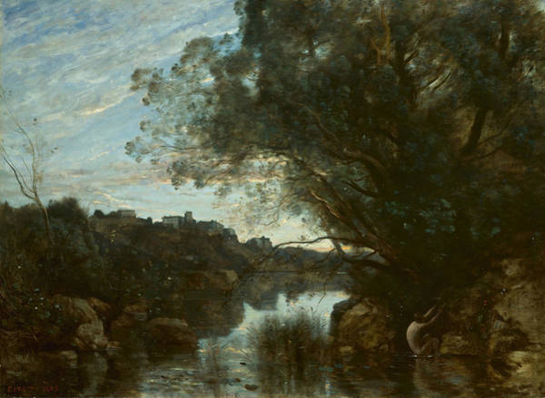 Painting - Souvenir Of The Environs Of Lake Nemi by Jean-Baptiste-Camille Corot