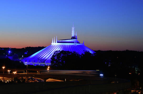Tomorrowland Photograph - Space Mountain And Monorail by David Lee Thompson
