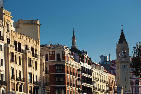 Calle Wall Art - Photograph - Spain, Madrid, Salamanca Area by Walter Bibikow