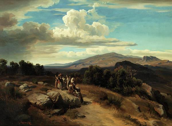 Hamlet Painting - Spanish Landscape by Anton Romako