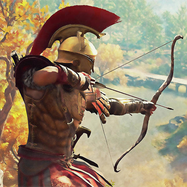 Painting - Spartan Hoplite - 43 by Andrea Mazzocchetti