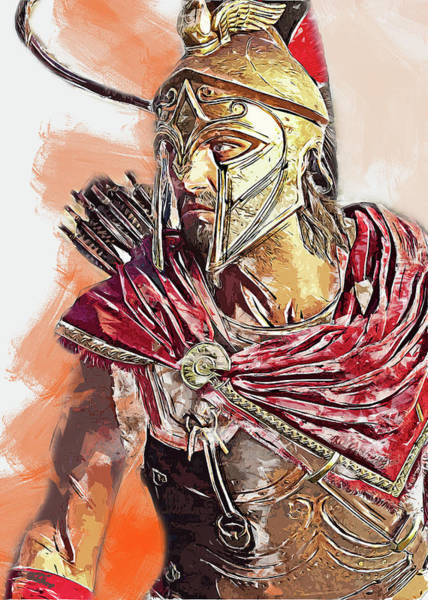 Painting - Spartan Hoplite - 44  by Andrea Mazzocchetti