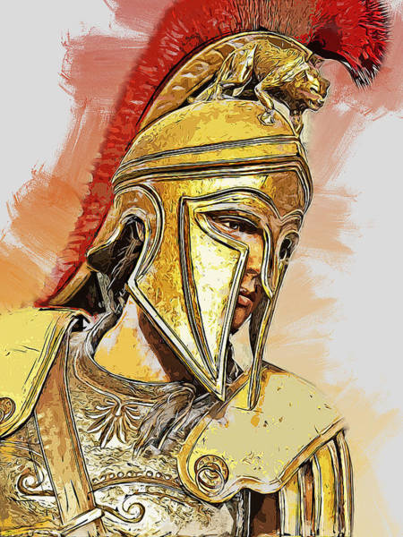 Painting - Spartan Hoplite - 51 by Andrea Mazzocchetti
