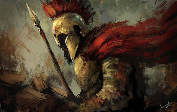Mythology Painting - Spartan by Imad Ud Din
