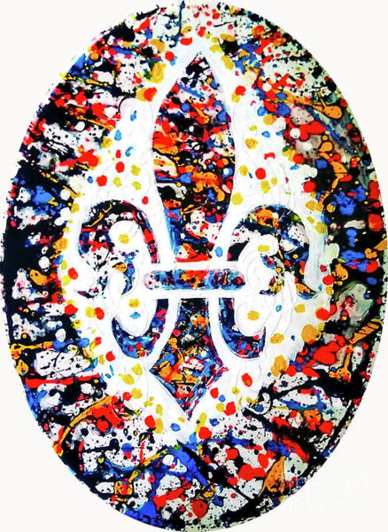 Wall Art - Painting - Spatter Paint Fleur De Lys by Genevieve Esson