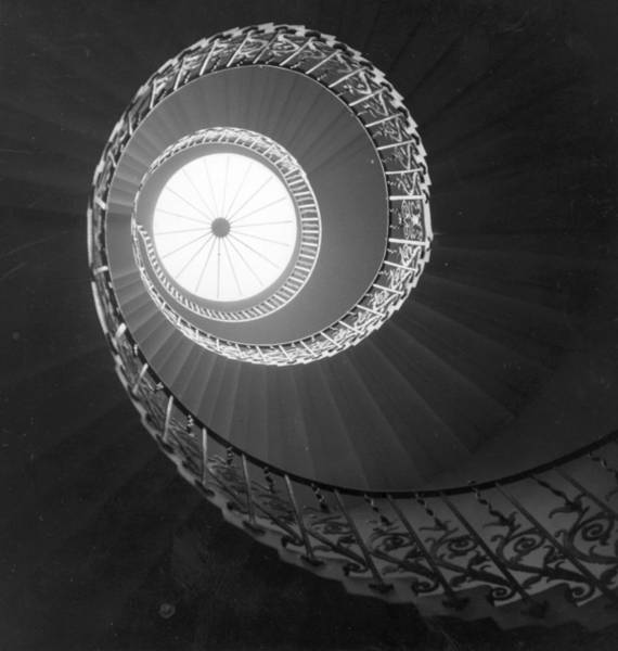 Technique Photograph - Spiral Stairwell by Raymond Kleboe