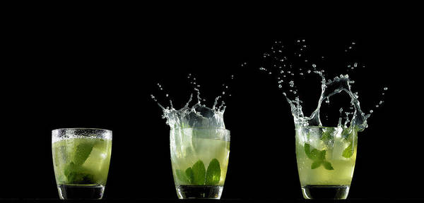 Cocktail Photograph - Splashed Cocktails by Monica Rodriguez