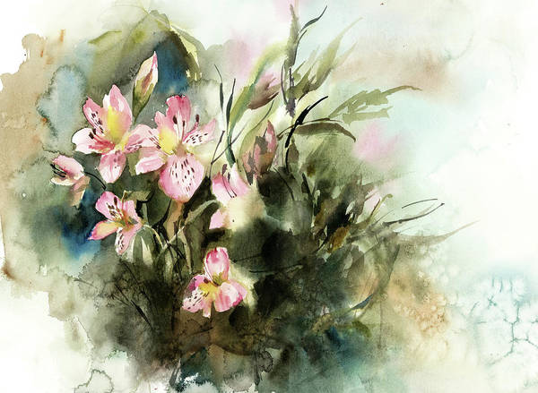 Wall Art - Painting - Spring Floral by Sophia Rodionov