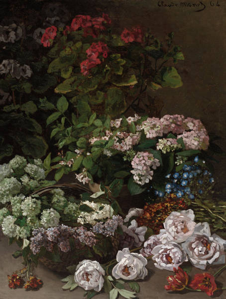 Wall Art - Painting - Spring Flowers, 1864 by Claude Monet