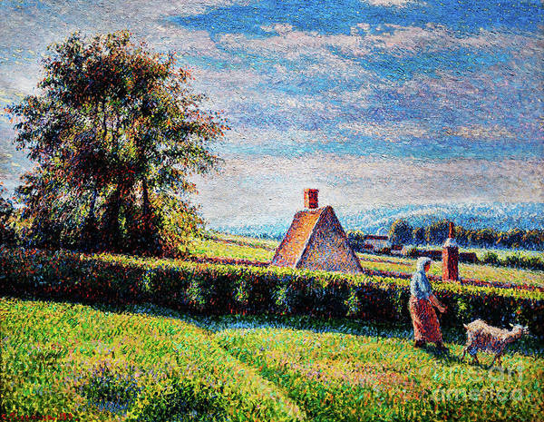 Painting - Spring Pasture by Camille Pissarro