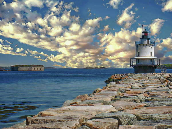 Photograph - Spring Point Ledge Lighthouse by Anthony Dezenzio