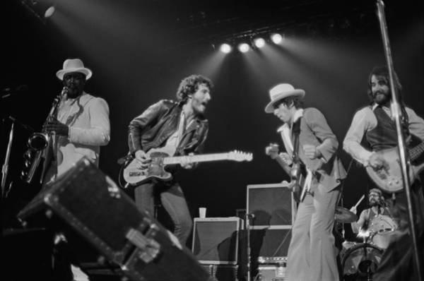 1970 Photograph - Springsteen Live In New Jersey by Fin Costello
