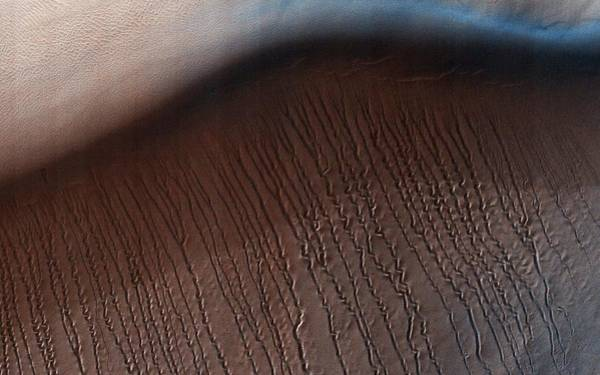 Wall Art - Painting - Squiggles In Hellas Planitia  Mars by Celestial Images
