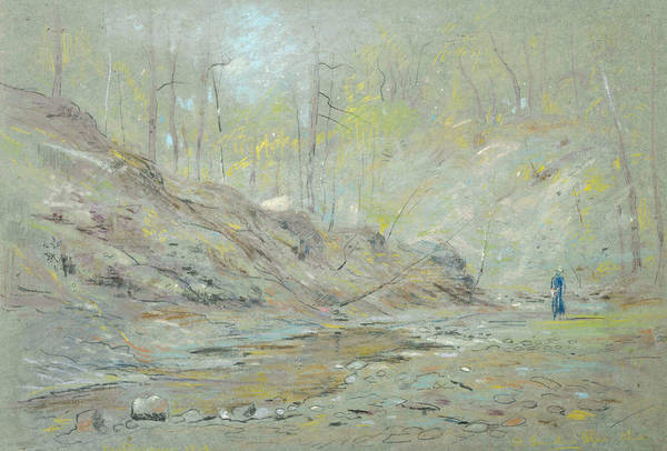 Pastel - St. Gauden's Glen, Ohio by Dwight Williams