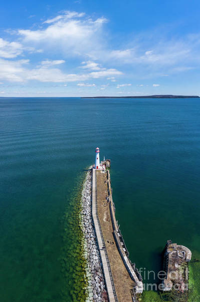 St Ignace Wall Art - Photograph - St Ignace Aerial by Twenty Two North Photography