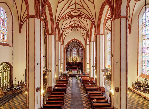 Wall Art - Photograph - St John S Archcathedral Interior Warsaw Masovian Voivodeship Poland by imageBROKER - Karol Kozlowski
