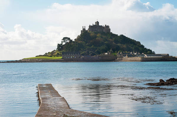 High Tide Photograph - St Michaels Mount In Cornwall, England by Tbradford