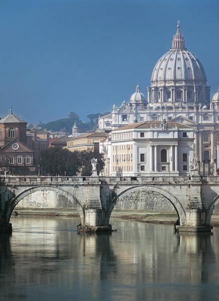 Tiber Wall Art - Photograph - St Peters Basilica, Rome, Italy by Martin Child