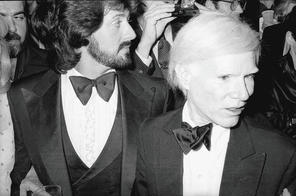 Warhol Photograph - Stallone & Warhol Attend Whitney Opening by Fred W. McDarrah