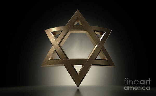 Wall Art - Digital Art - Star Of David Casting by Allan Swart