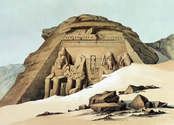 Philae Painting - Statues Of Rameses by Karl Richard Lepsius