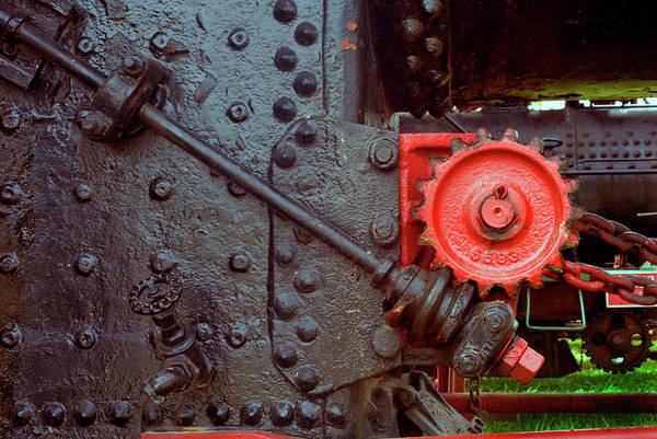 Wall Art - Photograph - Steam Engine Steering Gears by Paul W Faust - Impressions of Light