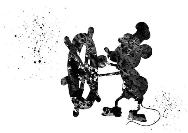Wall Art - Digital Art - Steamboat Willie by Erzebet S