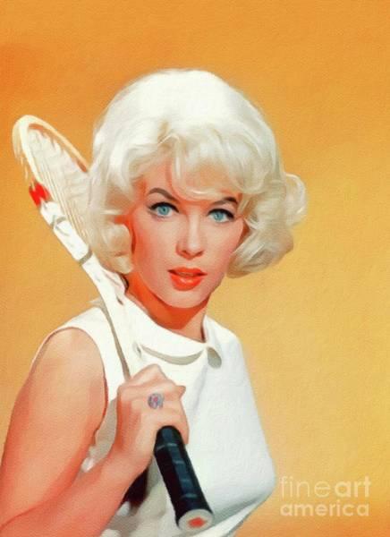 Steven Painting - Stella Stevens, Vintage Actress by John Springfield