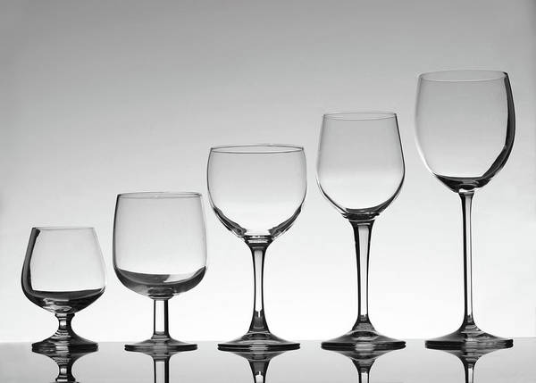Bar Counter Photograph - Stemware by Donald gruener