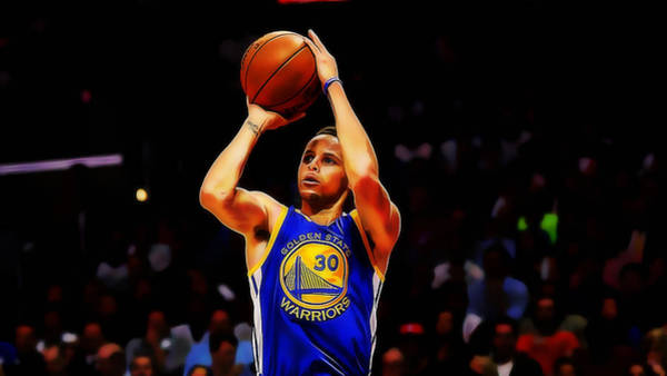 Mixed Media - Steph Curry by Marvin Blaine