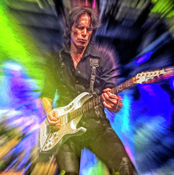 Wall Art - Mixed Media - Steve Vai by Mal Bray