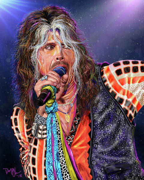 Hardrock Digital Art - Steven Tyler by Don Olea