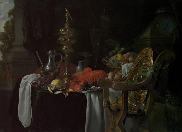 Painting - Still Life - A Banqueting Scene by Jan Davidsz de Heem