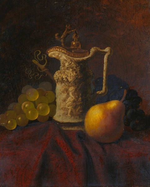 Painting - Still Life With Ewer And Fruit by Carducius Plantagenet Ream