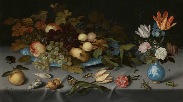 Wall Art - Painting - Still Life With Fruits And Flowers by Balthasar van der Ast
