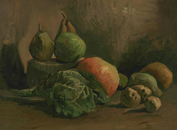 Potato Painting - Still Life With Vegetables And Fruit by Vincent van Gogh