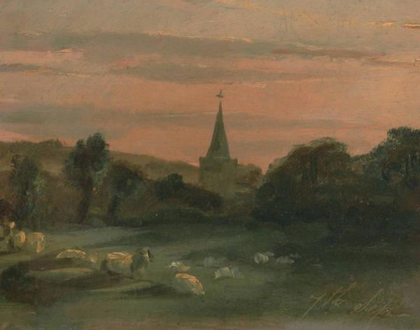 Painting - Stoke Poges Church by Thomas Churchyard