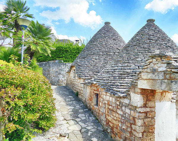 Photograph - Stone Coned Rooves Of Trulli Houses by Steve Estvanik