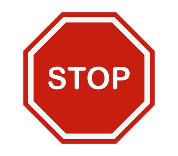 No Entry Digital Art - Stop Signal Icon by Marco Livolsi